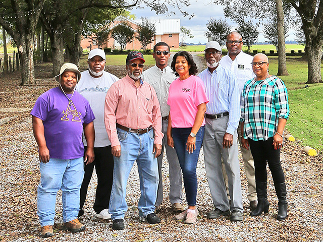 The Pattersons (left to right): Arnell, Rodrick, Joe, Samuel II, Beatrice, Samuel Sr., Michael Jr. and Essie (Progressive Farmer image by John Keen)